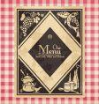 Vintage menu or bookcover vector