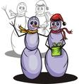 Snowmans - vinyl-redy vector