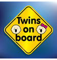 Twins on board sticker vector