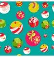 Colorful flat christmas seamless background vector