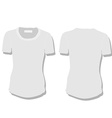 White woman t-shirt vector