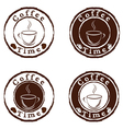 Coffee time stamps set vector