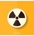Radiation danger icon vector