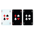 Card with four sign vector
