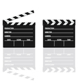 Movie clapper with text on it vector