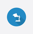 Reading-lamp flat blue simple icon with long vector