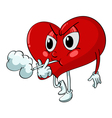 Cartoon smoking heart vector