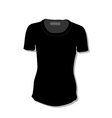 Black t-shirt vector
