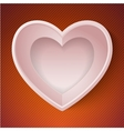 Heart happy valentine day love paper 3d frame vector