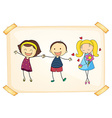 Girls and boy vector