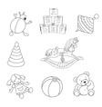 Toys set vector