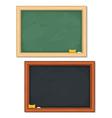 Black and green blackboards vector