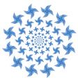 Paper windmill spiral vector