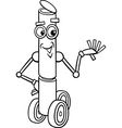 Fanatasy robot cartoon coloring page vector