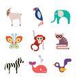 Animal icons 10 vector