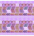 Seamless ethnic purple pattern vector