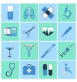 Medical icons flat line vector