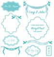 Wedding frames vintage invitation borders vector