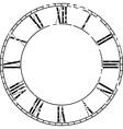 Vintage clock vector