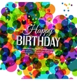 Birthday card in bright colors on polka dots vector