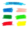 Oil pastel banners vector