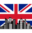 City and flag of great britain vector