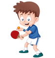 Table tennis player vector