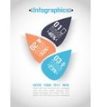 Modern origami business steb style options banner vector
