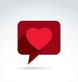 Family consultation symbol speech bubble with love vector