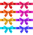 Big ribbons with bow vector