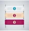 Isolated banner vector