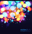 Bright colors bokeh light effect background vector