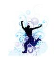 Artistic man jumping poster vector