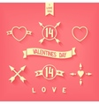 Tender flat design love iconsimbols details vector