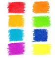 Set of rainbow pastel crayon spots isolated on vector