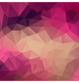 Polygon abstract texture in pink colors vector