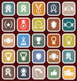 Award flat icons on red background vector