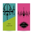 Business card template with chandelier leaflet vector