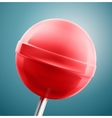 Red lollipop closeup vector