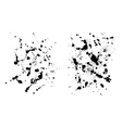 Two grungy ink blob textures for your designs vector