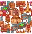 Sketch city seamless pattern vector