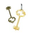 Gold key eps10 vector