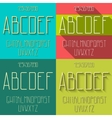 Flat alphabet set vector