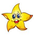 Cartoon starfish vector