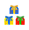 Christmas gift box presents vector