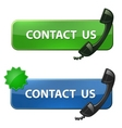 Contact us icon vector