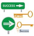 Set of success concept arts vector