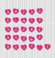 Letter heart vector