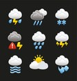 Weather with clouds icons vector