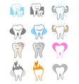 Tooth icons vector